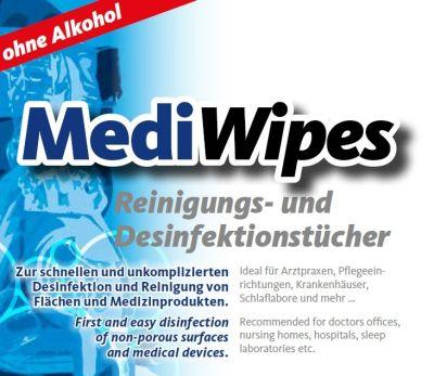 """MediWipes CPAP Reinigungstücher """"lemon"""" (115 Blatt)"""